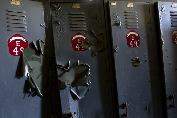 Vacant Detroit fire station littered with records, ravaged by thieves