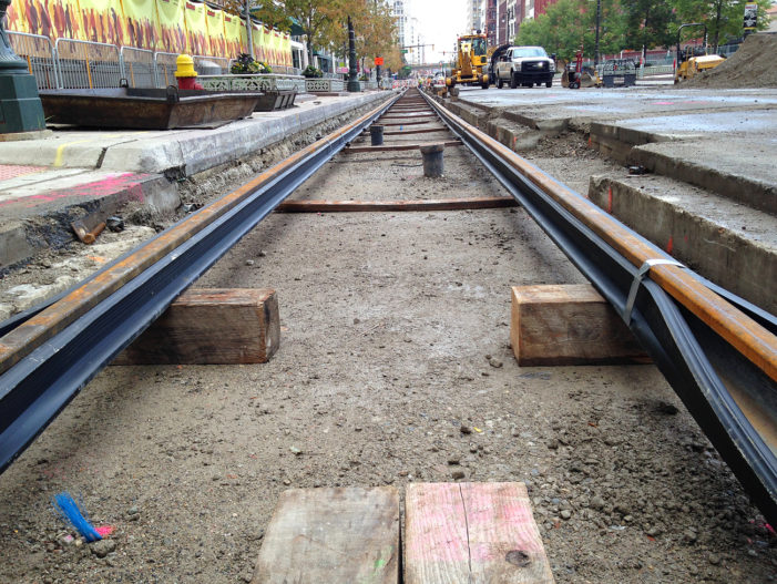 Up Close: M-1 Rail begins taking shape in downtown Detroit