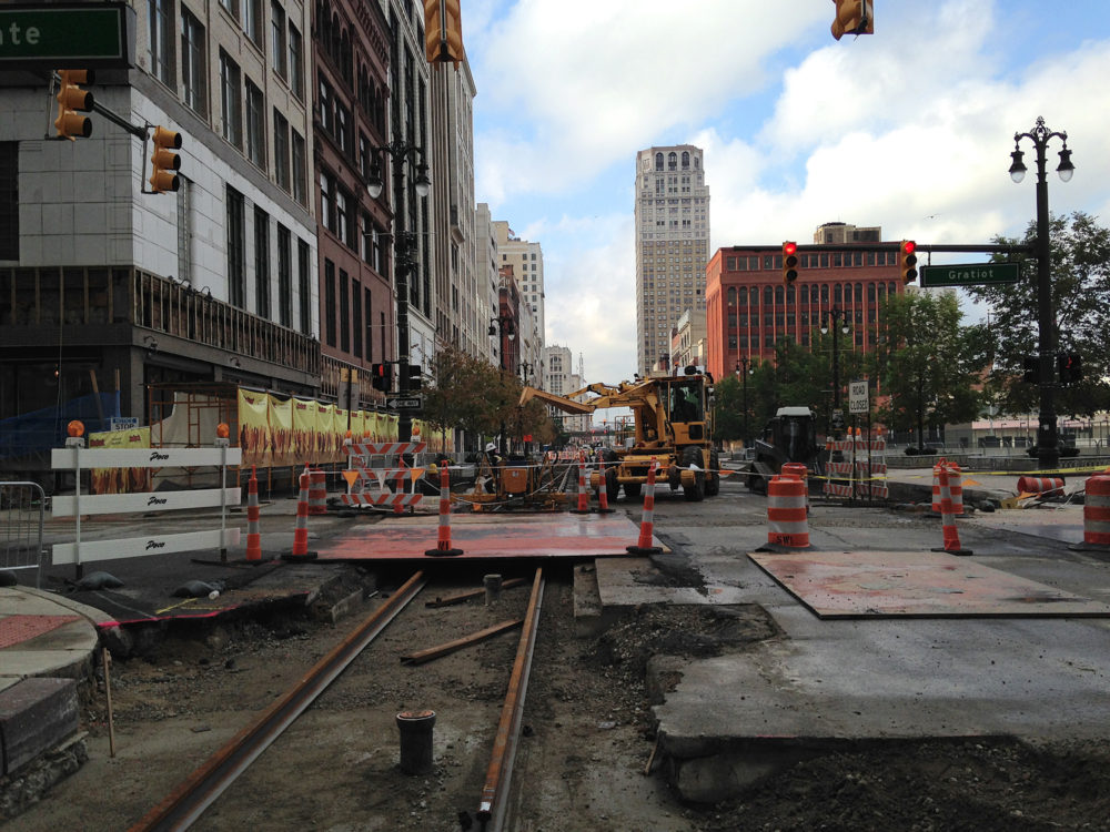 Up Close M 1 Rail Begins Taking Shape In Downtown Detroit