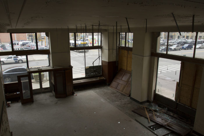 Historic Free Press building neglected, covered in mold, open to trespass