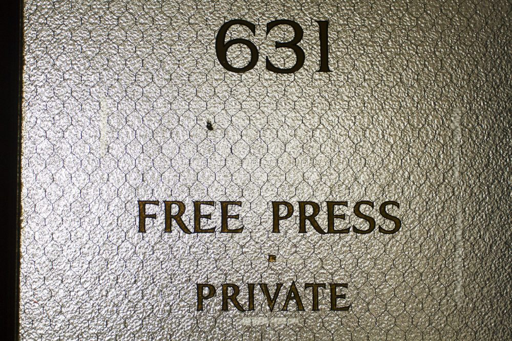 Free Press, newspaper, abandoned building, Lafayette, DDI, Albert Kahn