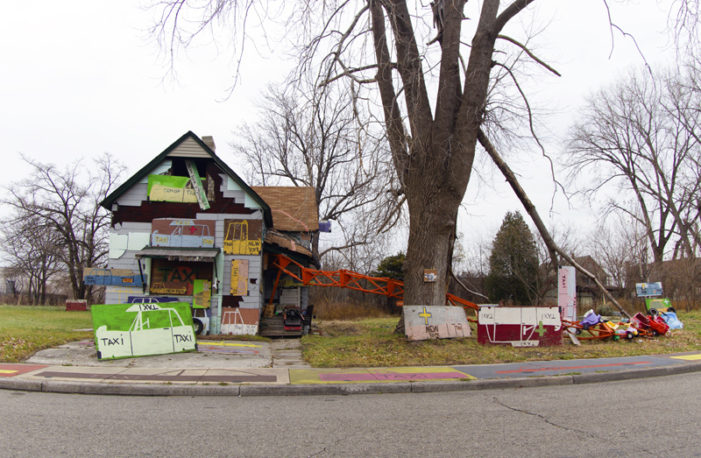 Suspicious fire tears through 'Taxi House' at Heidelberg Project early Sunday