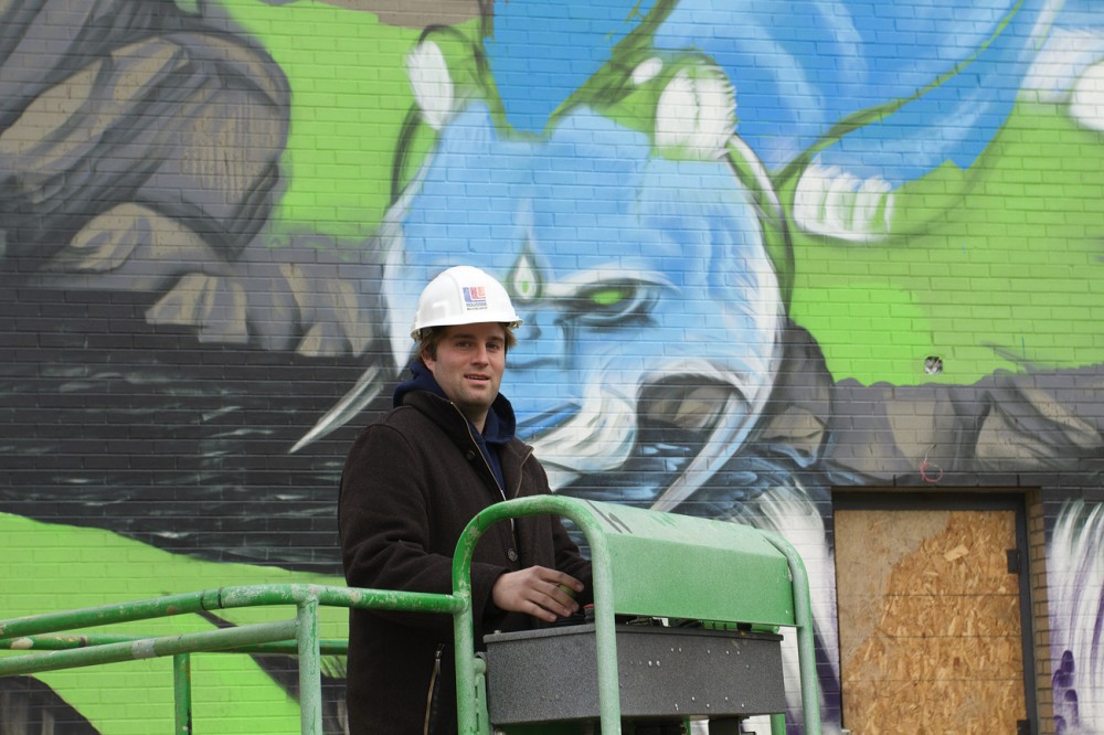 Derek Weaver of 4731 Group is curating the mural project.