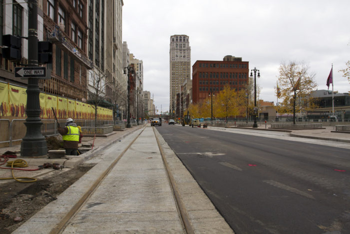 Photos: M-1 Rail begins to take shape on Woodward