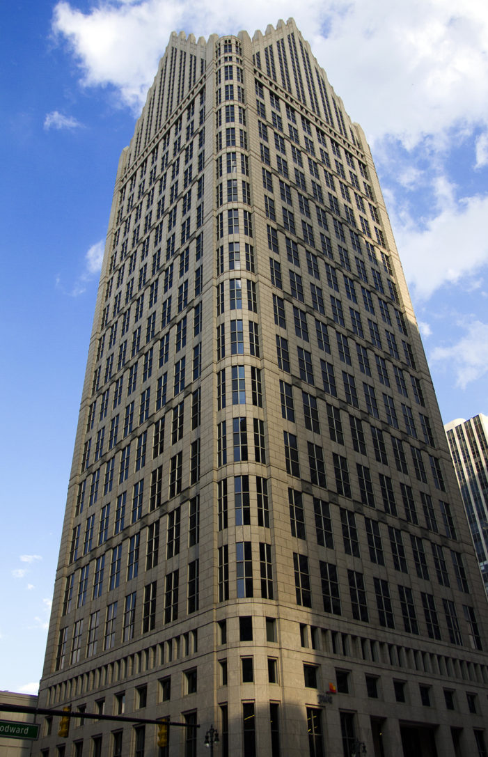 Postmodern skyscraper in downtown Detroit hits market for $100M