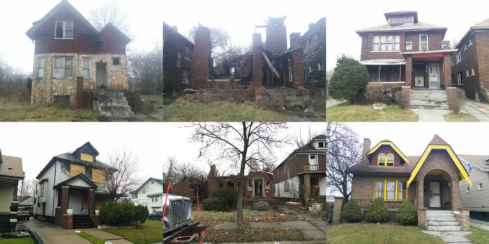 Mystery: Fires break out in 7 houses on 1 block in Detroit