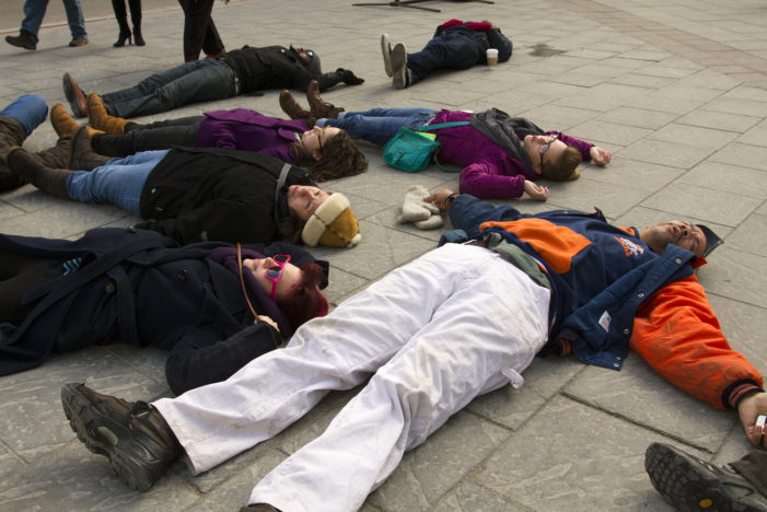 Photos: 'Die-in' rally in downtown Detroit gives way to civil disobedience