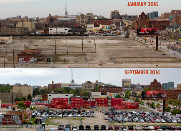 Red Wings arena site goes silent 3 months after groundbreaking