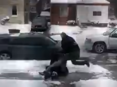 Suburban cops under investigation after punching, kicking black Detroiter