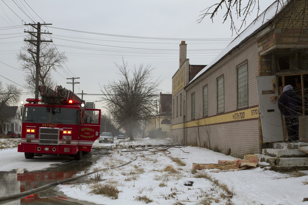 A suspicious fire broke out inside this church at 5770 Hendrie on Jan. 30 . Steve Neavling/MCM