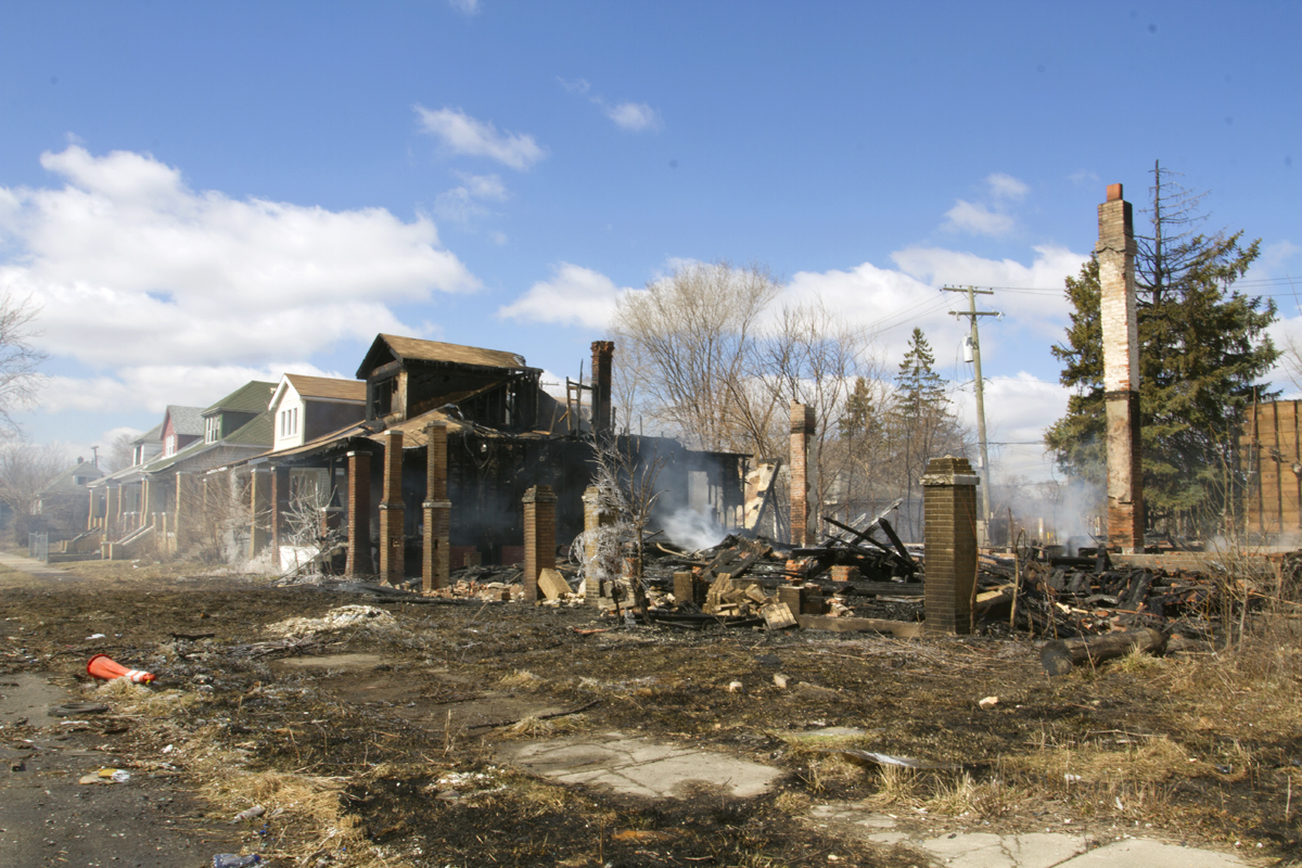 Three houses were leveled and one destroyed in a fire on Delta Street.