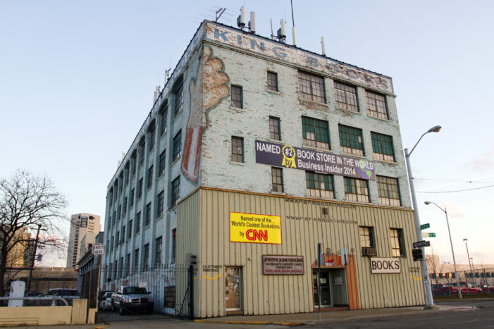 City of Detroit threatens John K. King bookstore over building banners