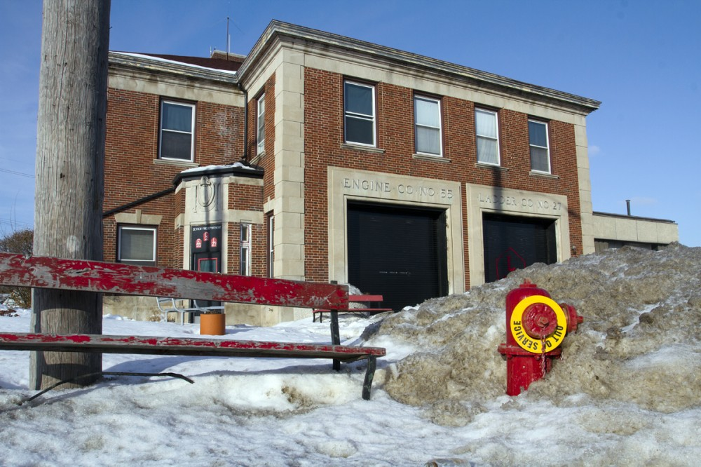Broken hydrant outside of a Detroit fire station for Engine 55 and Ladder 22. Steve Neavling/MCM