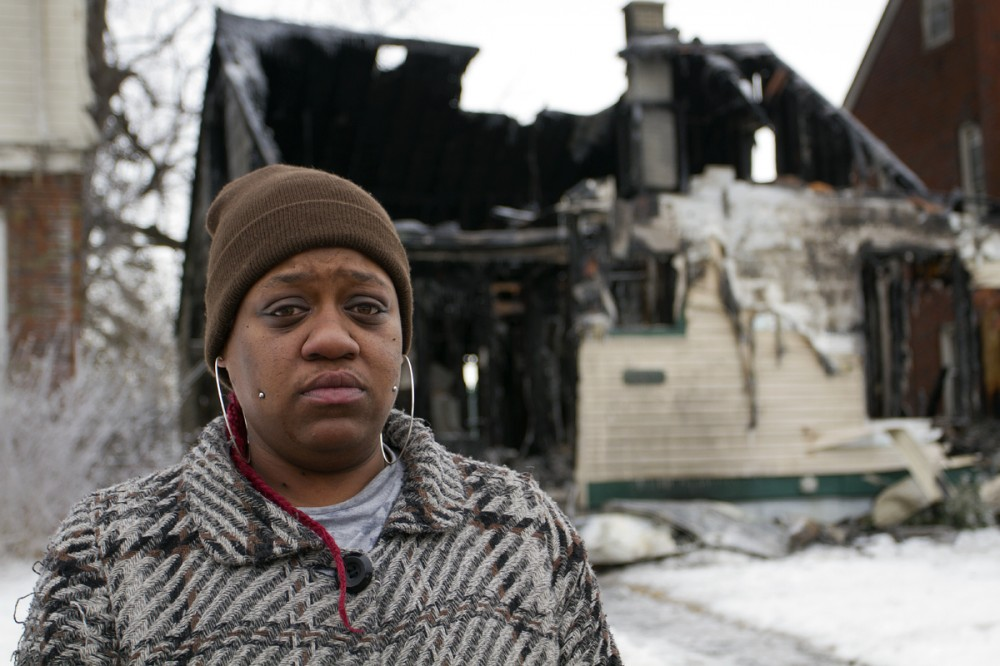 Firefighters couldn't control a fire inside Natasha Miller's house because of broken hydrants. Steve Neavling/MCM