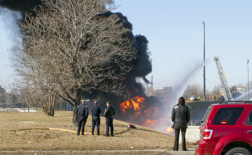 A tanker exploded on I-94 near Michigan Avenue on Wednesday. Photos by Steve Neavling/MCM