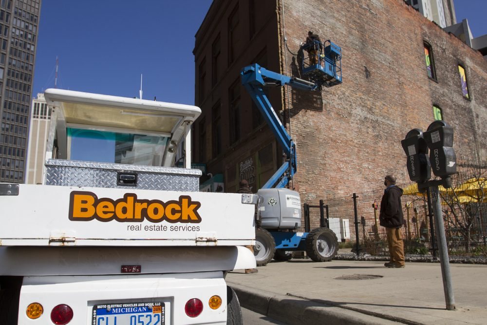 Dan Gilbert-owned Bedrock Real Estate Services removes security equipment from American Coney Island in downtown Detroit. By Steve Neavling/Motor City Muckraker