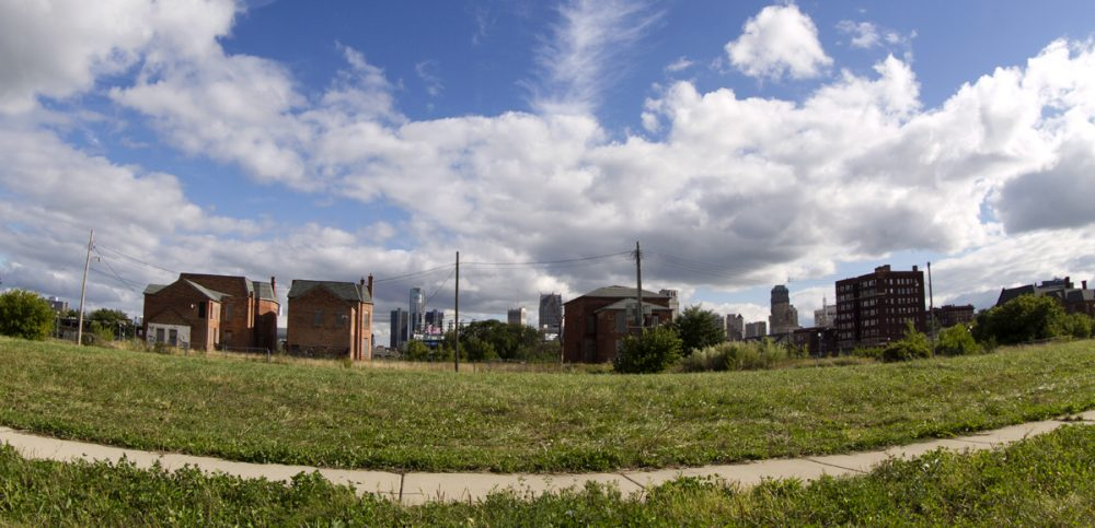 This block-long lot on Alfred is also part of the deal.