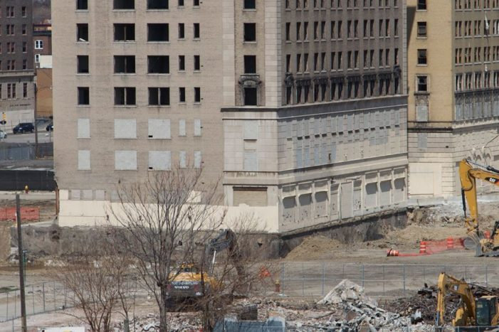 Red Wings arena crew digs up foundation of historic hotel without demo approval