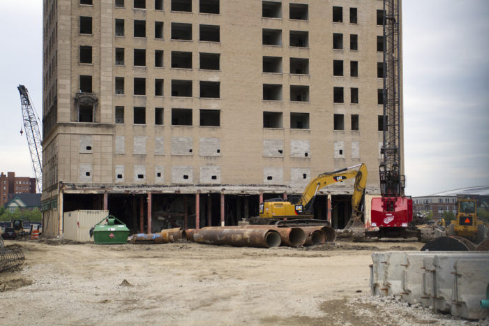 Demolition begins at Historic Hotel Park Avenue to make way for Red Wings arena