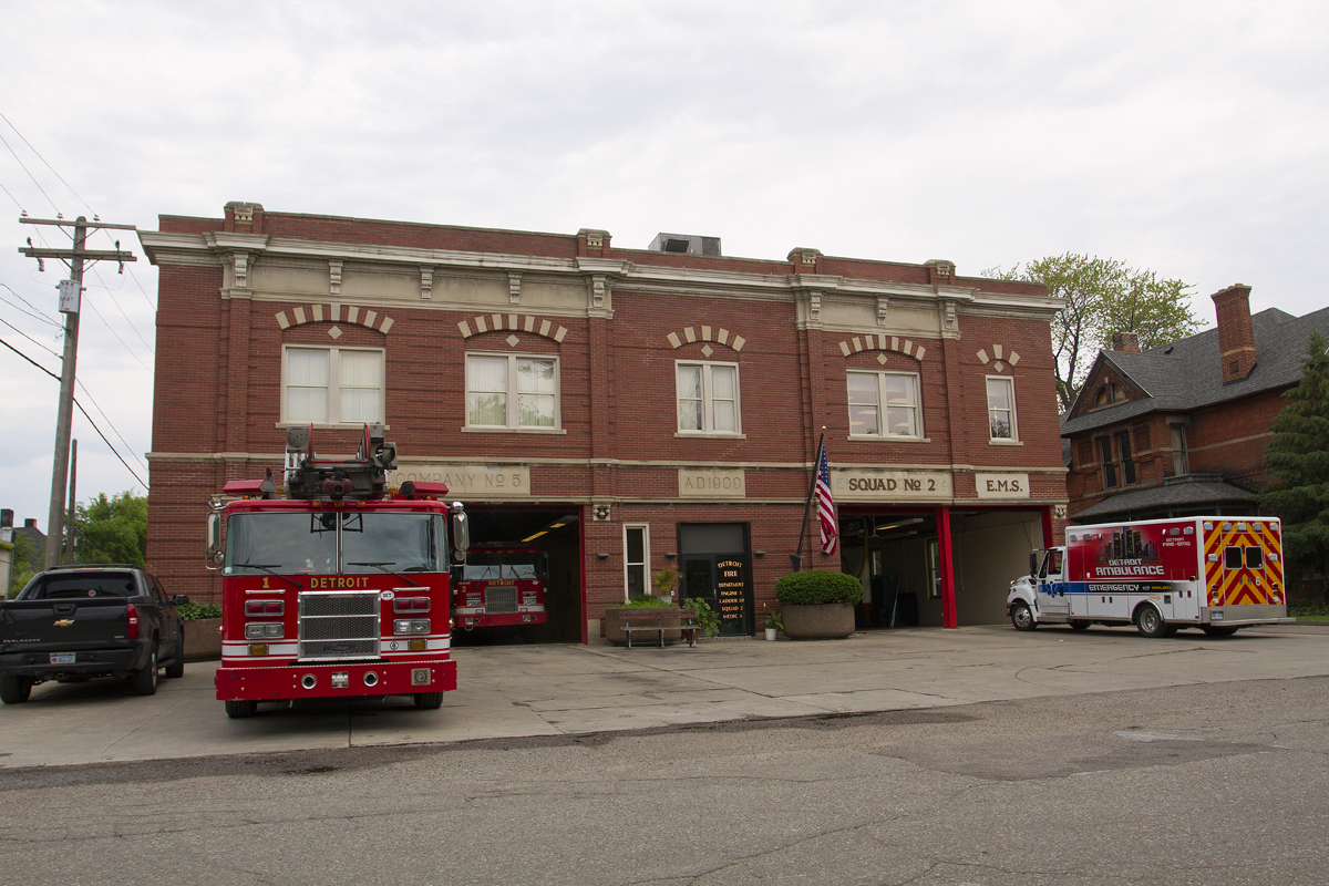 This firehouse in the Cass Corridor has more than a dozen violations. Photo by Steve Neavling/MCM.