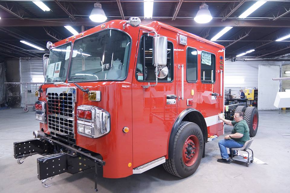 One of Detroit's Smeal fire engines, via Facebook.