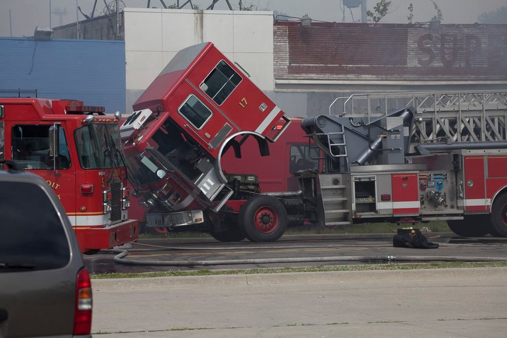 Ladder 17, one of the busiest rigs, broke down at the scene of a fire.