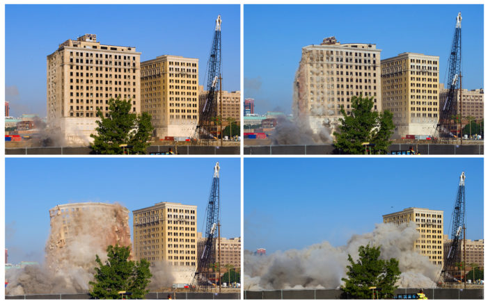 Relic of Detroit's booming 1920s imploded to make way for Red Wings arena