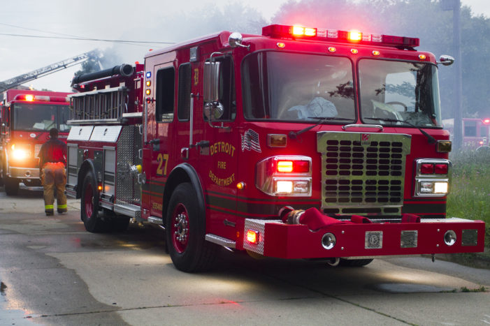 Detroit's new fire engine taken out of service less than day after its debut