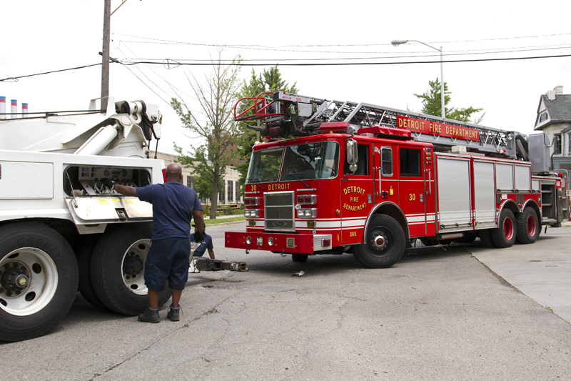 Ladder 20, which has been using replacement rigs for years, broke down after a fire.