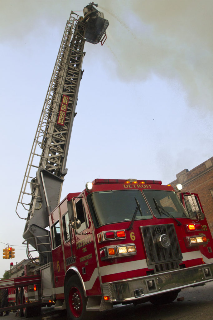 Ladder 6 attacks a fire early in the morning on July 5. Photo by Steve Neavling/MCM
