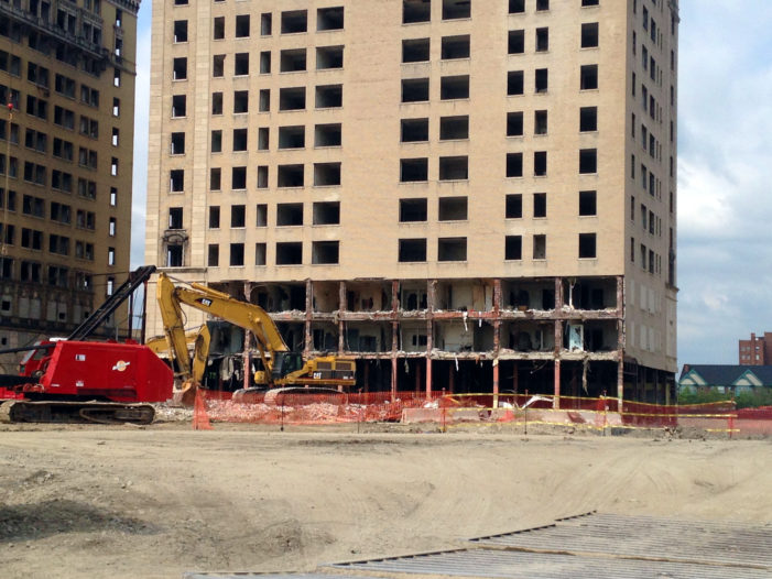 Demolition by implosion set for Park Avenue building at Red Wings arena site