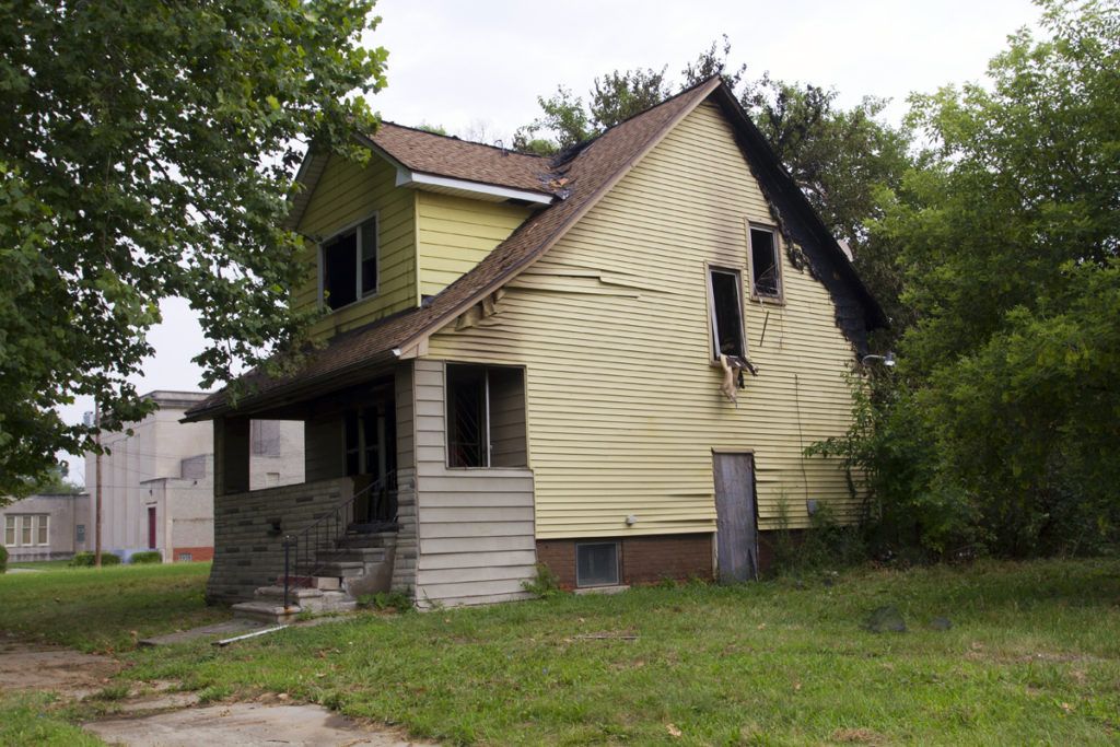 This occupied house at 1376 Manistique was gutted.