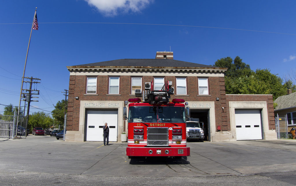 Engine 50's firehouse is . Photo by Steve Neavling