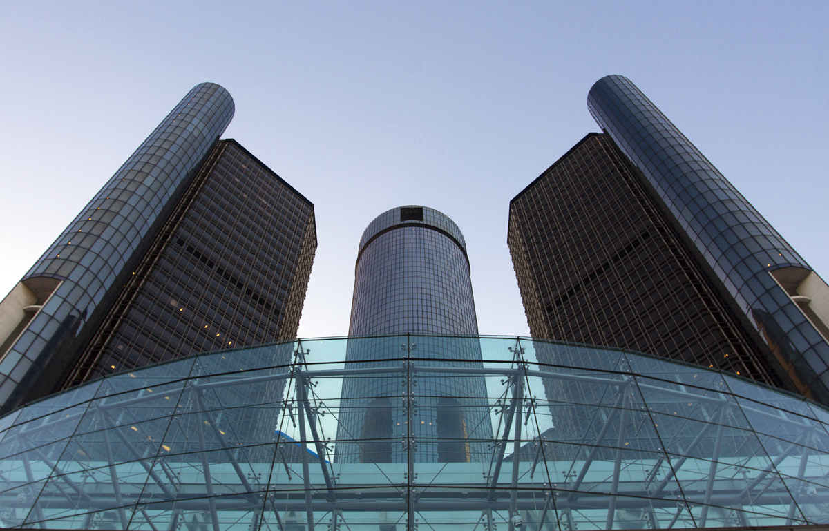 GM Renaissance Center in downtown Detroit. Photo by Steve Neavling