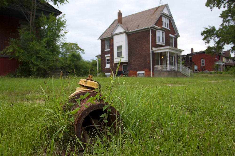 A busted hydrant in Detroit. Photo by Steve Neavling.