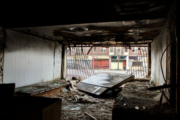 The Vanity Ballroom was damaged by a fire about five years ago and was open to trespass. Photo by Steve Neavling.
