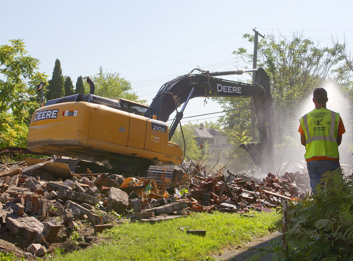 A Detroit Land Bank demolition. Photo By Steve Neavling.
