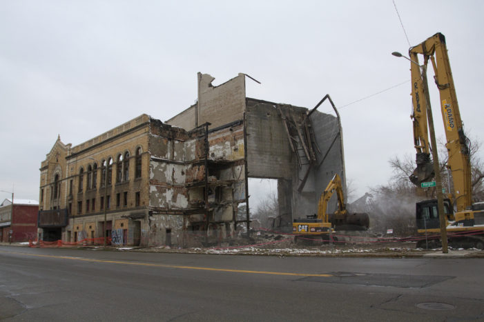 Photos: Demolition begins on legendary, crumbling Eastown Theatre