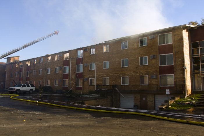 Tenant eradicating bed bugs believed to have started 3-alarm blaze