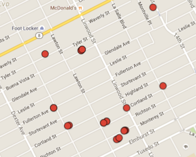 Where firefighters encountered hydrant or water pressure problems in a small section of the west side this year.