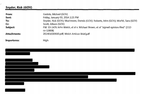 Snyder email redacted