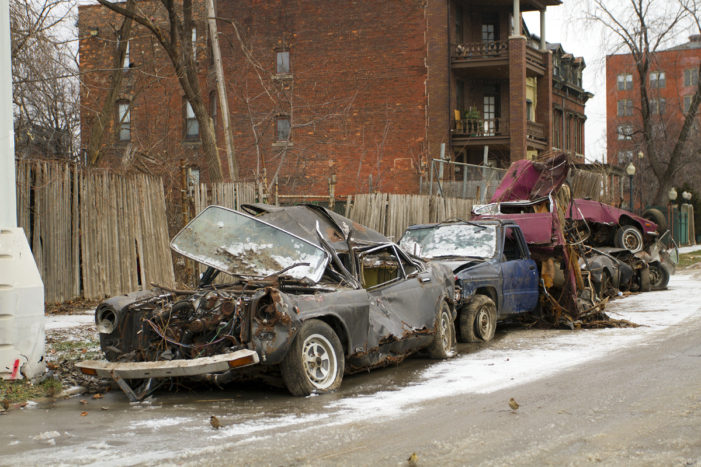 Mystery behind vintage cars piled up in the Cass Corridor