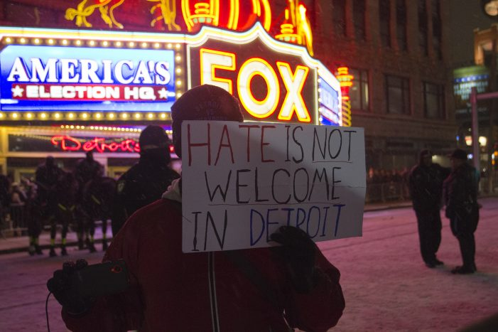 Protesters plan to build a wall to prevent Trump from speaking in Detroit