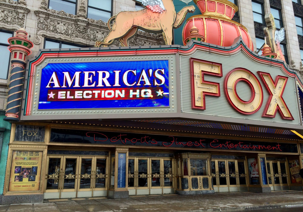 The GOP debate will take place tonight at the Fox Theater in downtown Detroit. Photo by Steve Neavling.