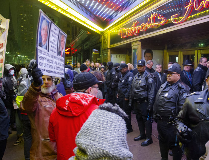 Photos of Protest: Hundreds gathered outside GOP debate in Detroit