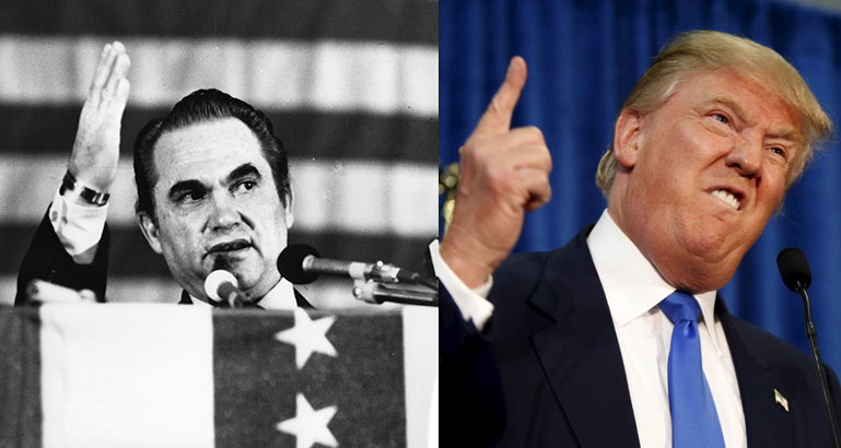 George Wallace and Donald Trump had similar campaign tactics.