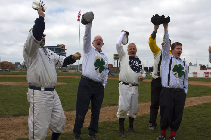 Photos: Fans say farewell to Navin Field with a vintage baseball game