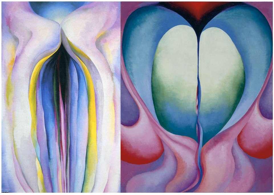 Georgia O'Keefe paintings that appear to resemble vaginas.