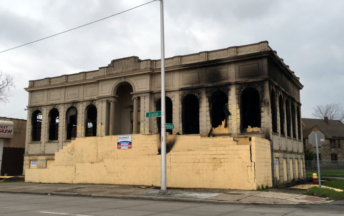 Suspicious fire tore through former Detroit library designed by Louis Kamper