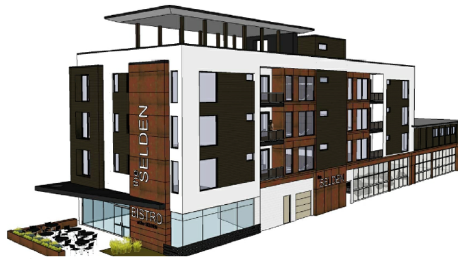 A rendering of the new building.